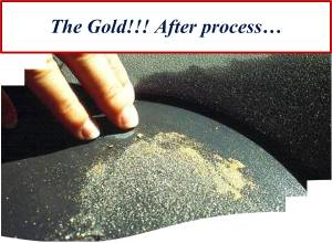 Gold after process