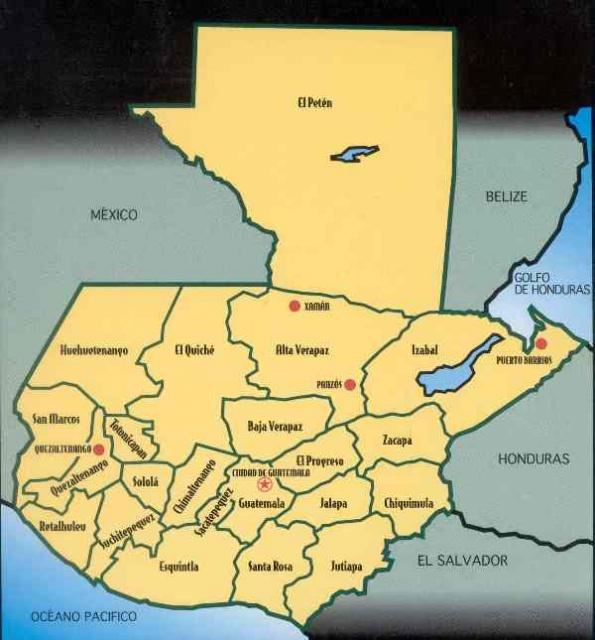 Day Minerals Rio Suerte - Honduras mineral map non metallic