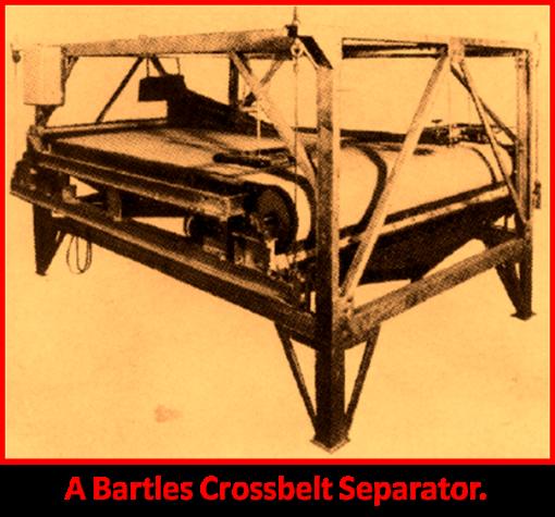 A bartles crossbelt separator